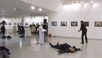 俄大使遇刺视频曝光